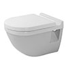 Duravit Starck 3 HygieneGlaze Wall Hung Toilet Pan + Seat profile small image view 1
