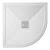 Crosswater - Quadrant Low Profile Stone Resin Shower Tray & Waste - 2 Size Options profile small image view 1