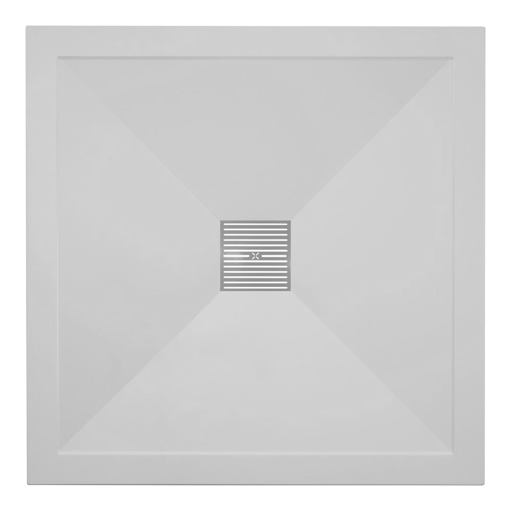 Crosswater - Square Low Profile Stone Resin Shower Tray & Waste - 2 Size Options
