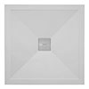 Crosswater - Square Low Profile Stone Resin Shower Tray & Waste - 2 Size Options profile small image view 1