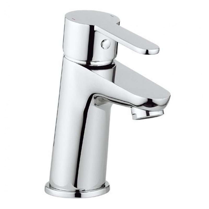 Crosswater Slide Monobloc Basin Mixer Tap - SL110DNC profile large image view 1