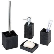 Wenko Slate Rock Bath Accessories Set Medium Image