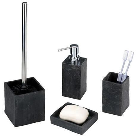 Wenko Slate Rock Bath Accessories Set