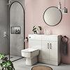Valencia Slimline Combination Basin & Toilet Unit - White Gloss - (1000 x 305mm) profile small image view 1