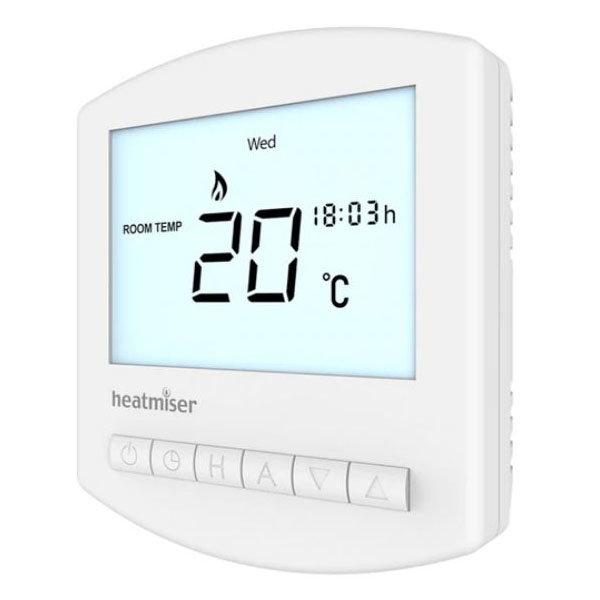 Heatmiser Slimline-B Battery Powered Programmable Thermostat