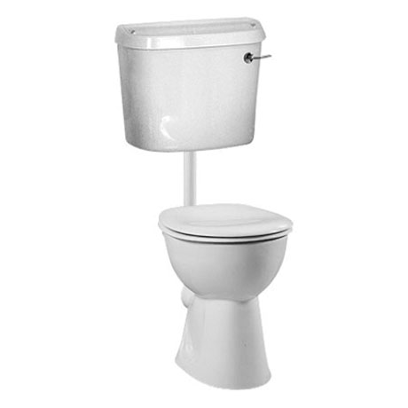Vitra - S-Line Low Level Toilet with Chrome Lever Flush