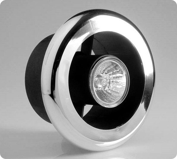 100mm Showerlite Timer Model Fan Kit with Chrome Fitting - SLKTC Large Image