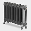 Paladin Sloane 450mm High 7 Section Electric Cast Iron Radiator with 1200w Heating Element profile small image view 1