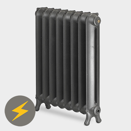 Paladin Sloane 750mm High 7 Section Electric Cast Iron Radiator with 2000w Heating Element