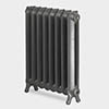 Paladin Sloane 750mm High 7 Section Electric Cast Iron Radiator with 2000w Heating Element profile small image view 1