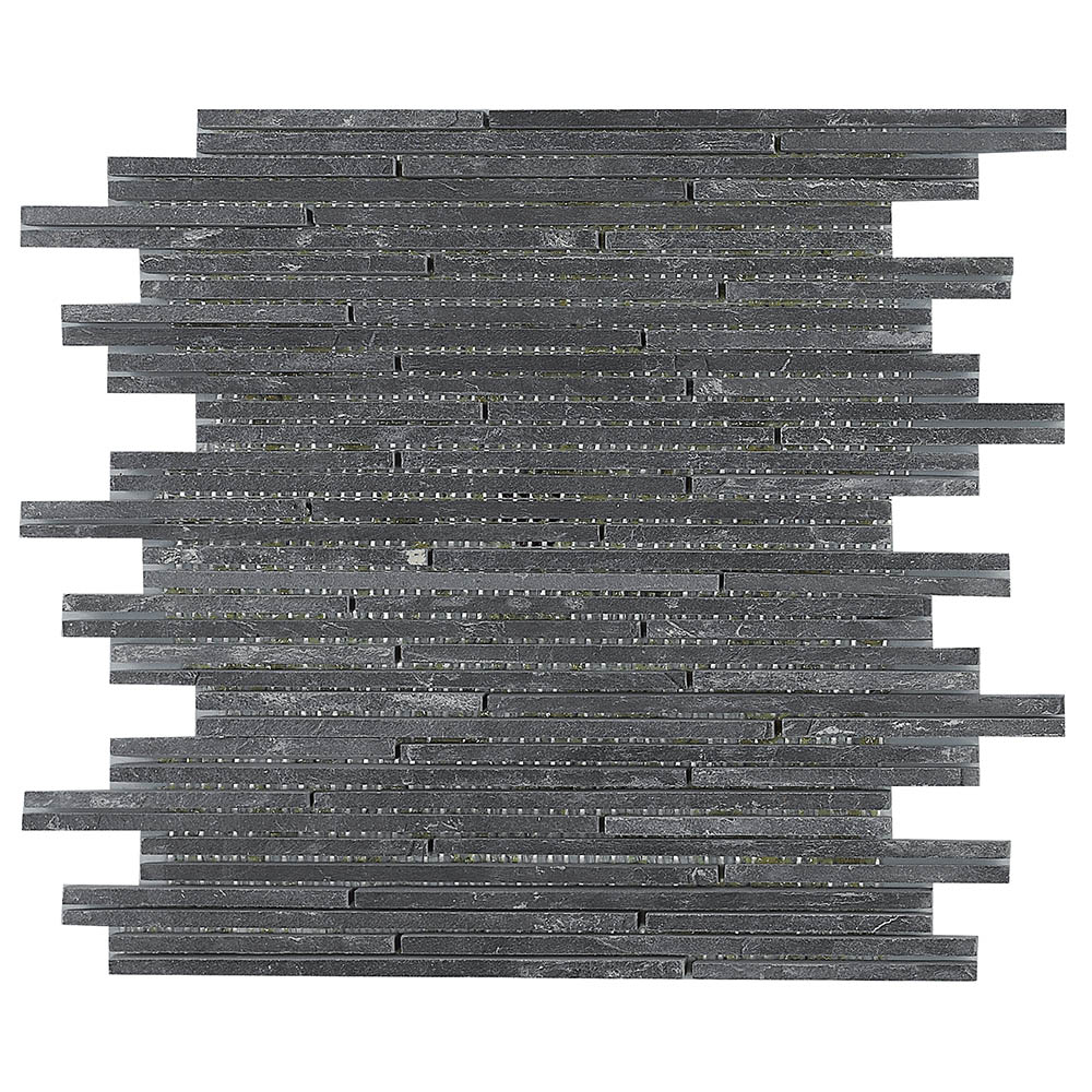 Dark Slate Stone Mosaic Tile Sheet - 298 x 298mm