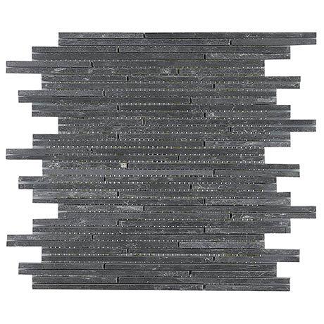 Dark Slate Stone Mosaic Tile Sheet - 298 x 305mm