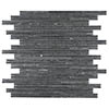 Dark Slate Stone Mosaic Tile Sheet - 298 x 298mm profile small image view 1
