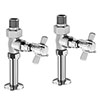 Keswick Chrome Straight Traditional Radiator Valves profile small image view 1