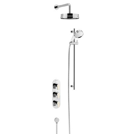 Heritage Lymington Lace Gold Recessed Shower with Deluxe Fixed Head and Flexible Kit - SLYCGDUAL01