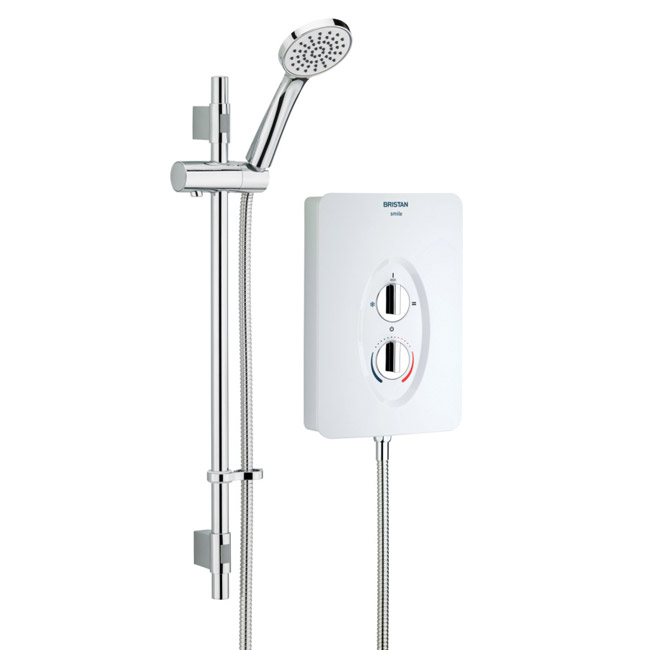 Bristan - Smile Electric Shower - White Large Image
