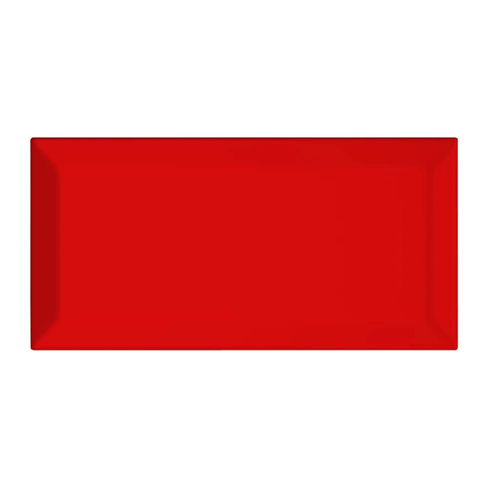 Victoria Mini Metro Wall Tiles - Gloss Red - 15 x 7.5cm Large Image