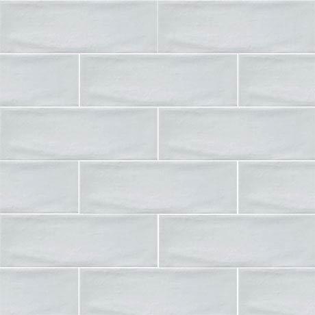Westbury Rustic Metro Wall Tiles - White - 30 x 10cm