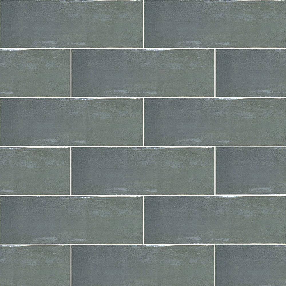 Westbury Rustic Metro Wall Tiles - Graphite - 30 x 10cm Large Image
