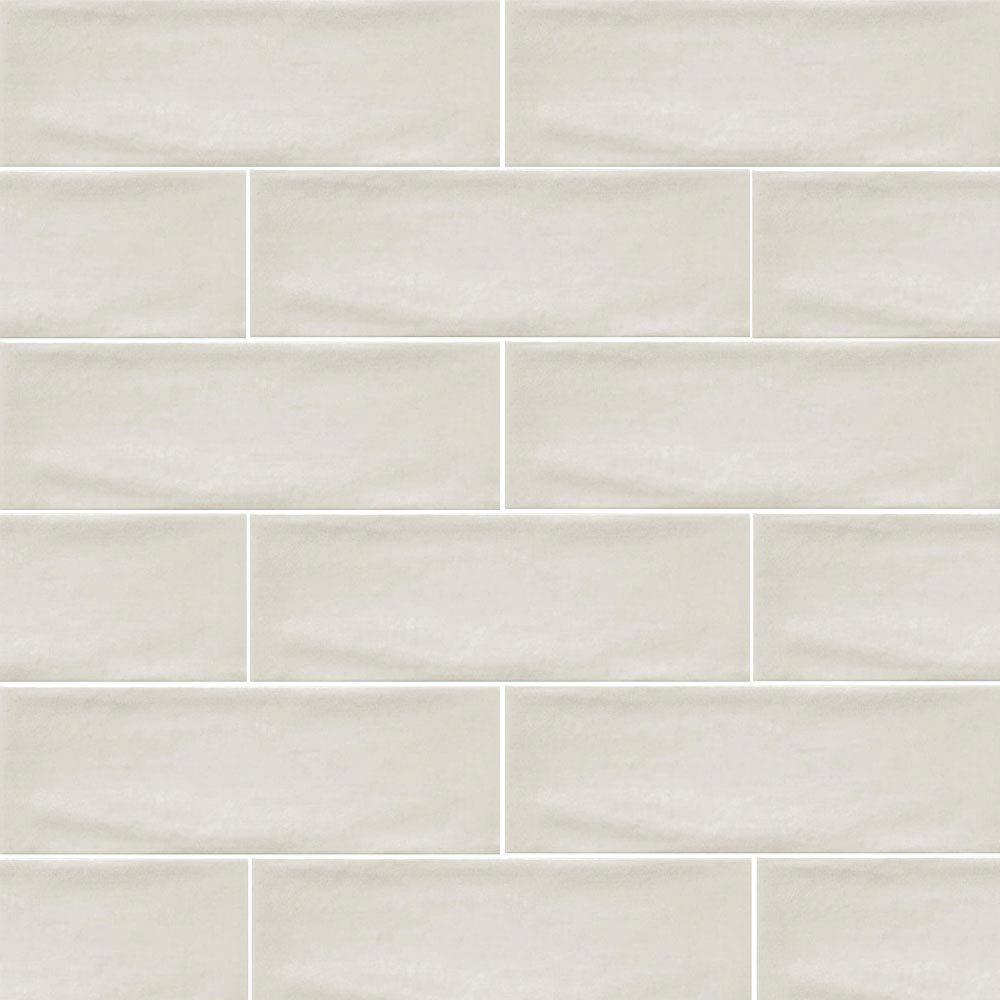 Westbury Rustic Metro Wall Tiles - Cream - 30 x 10cm Large Image
