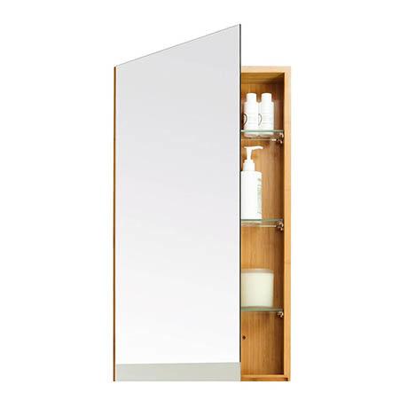 700mm Slimline Mirror Cabinet Bamboo