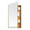 700mm Slimline Mirror Cabinet Bamboo profile small image view 1