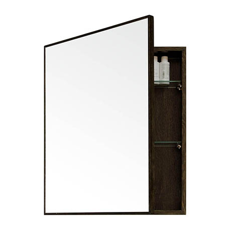 550mm Slimline Mirror Cabinet Dark Oak