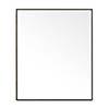 550mm Slimline Mirror Cabinet Dark Oak profile small image view 1