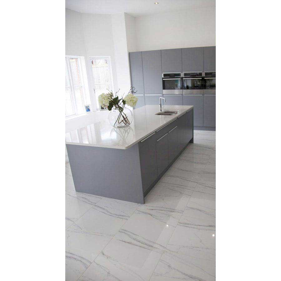 Ravenna Marble Effect Polished Porcelain Floor Tiles - 60 x 60cm  Profile Large Image