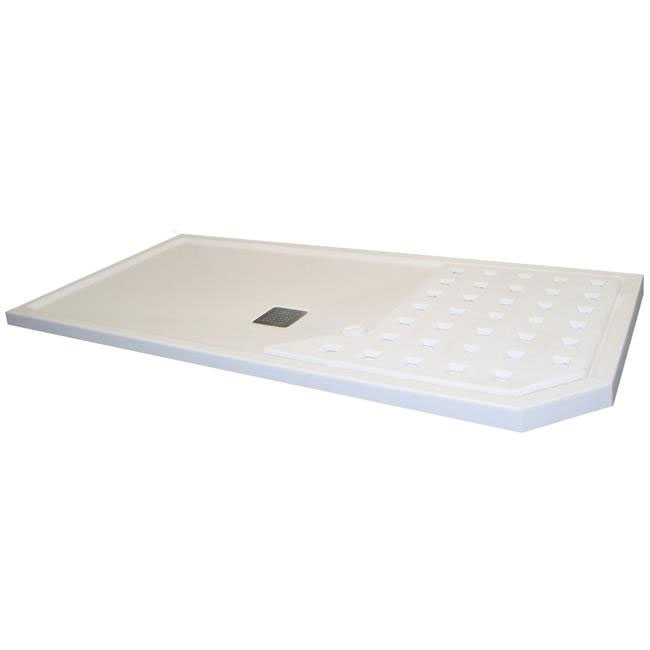 Roman Sculptures 1700mm Walk-In Shower Tray Large Image