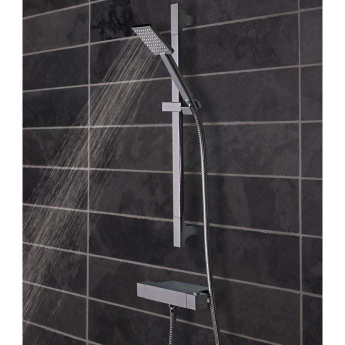 Tavistock Index Thermostatic Bar Valve Shower System with Accessory Shelf profile large image view 2