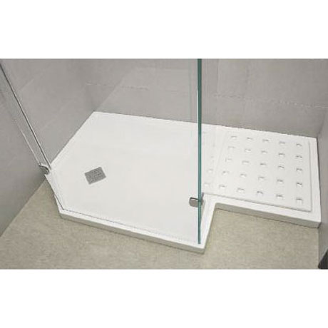 Roman Sculptures Angled Walk-In Shower Tray Large Image