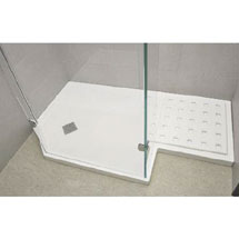 Roman Sculptures Angled Walk-In Shower Tray Medium Image