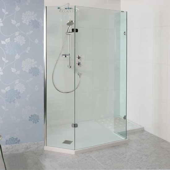 Roman Sculptures Angled Walk-In Shower Enclosure profile large image view 2