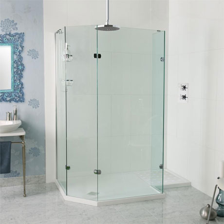 Roman Sculptures Angled Walk-In Shower Enclosure