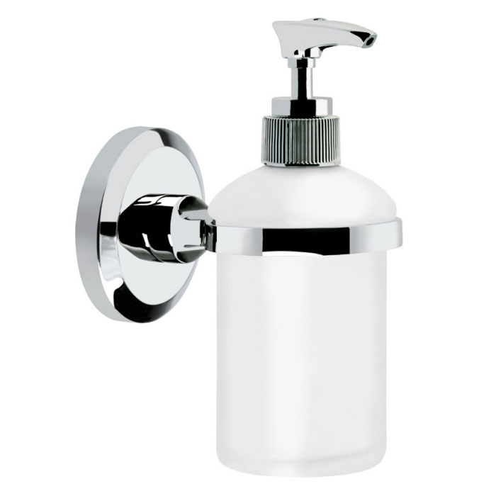 Bristan - Solo Wall Mounted Frosted Glass Soap Dispenser - SO-SOAP-C Large Image