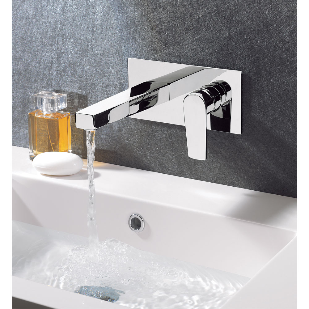 Crosswater - Solo Wall Mounted 2 Hole Set Basin Mixer - SO121WNC profile large image view 2