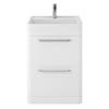 Hudson Reed Solar 600mm Floor Standing Cabinet & Basin - Pure White - SOL101 profile small image view 1