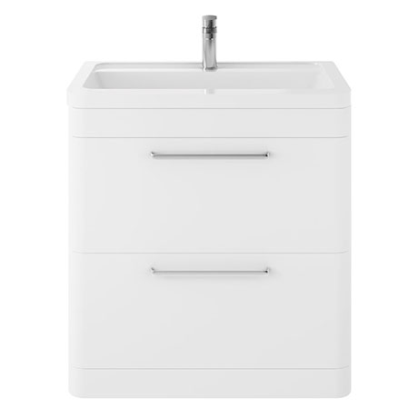 Hudson Reed Solar 800mm Floor Standing Cabinet & Basin - Pure White - SOL103