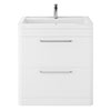 Hudson Reed Solar 800mm Floor Standing Cabinet & Basin - Pure White - SOL103 profile small image view 1