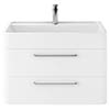 Hudson Reed Solar 800mm Wall Hung Cabinet & Basin - Pure White - SOL104 profile small image view 1