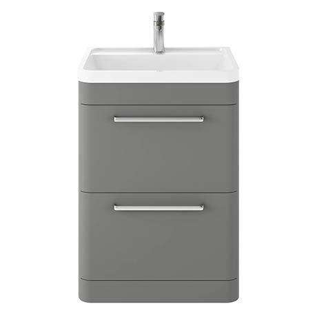 Hudson Reed Solar 600mm Floor Standing Cabinet & Basin - Cool Grey - SOL201