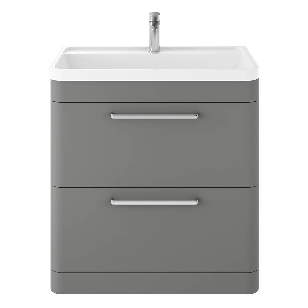 Hudson Reed Solar 800mm Floor Standing Cabinet & Basin - Cool Grey - SOL203