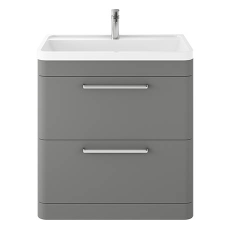 Hudson Reed Solar 800mm Floor Standing Cabinet & Basin - Cool Grey - SOL203
