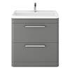Hudson Reed Solar 800mm Floor Standing Cabinet & Basin - Cool Grey - SOL203 profile small image view 1