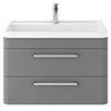 Hudson Reed Solar 800mm Wall Hung Cabinet & Basin - Cool Grey - SOL204 profile small image view 1