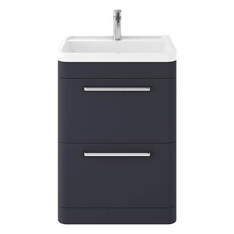 Hudson Reed Solar 600mm Floor Standing Cabinet & Basin - Indigo Blue - SOL301