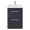 Hudson Reed Solar 600mm Floor Standing Cabinet & Basin - Indigo Blue - SOL301 profile small image view 1