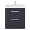 Hudson Reed Solar 800mm Floor Standing Cabinet & Basin - Indigo Blue - SOL303 profile small image view 1