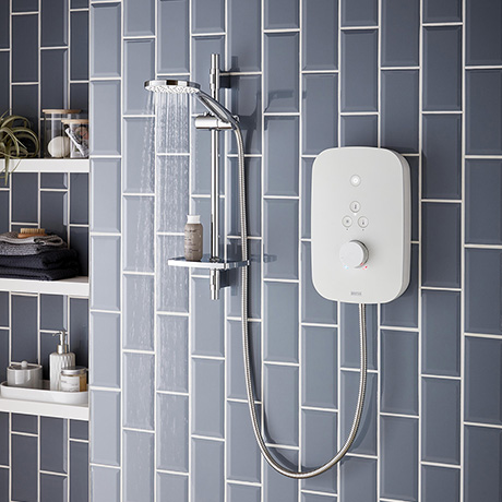 Bristan Solis 9.5kw Electric Shower - White - SOL95-W